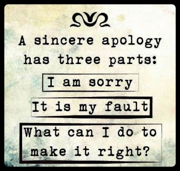 sincereapolgy