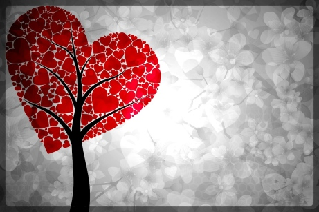 heart on tree-border