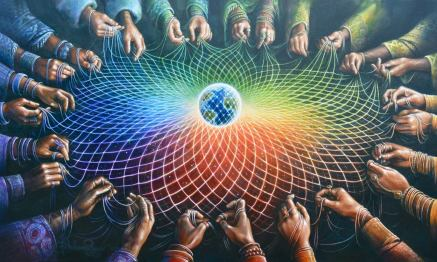 web around the earth